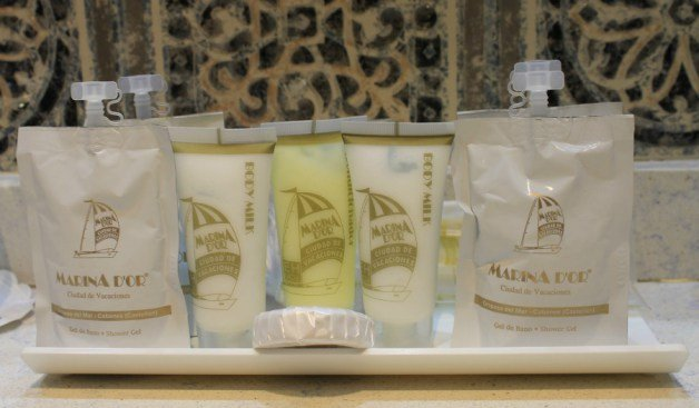 Amenities del baño de Marina d'Or