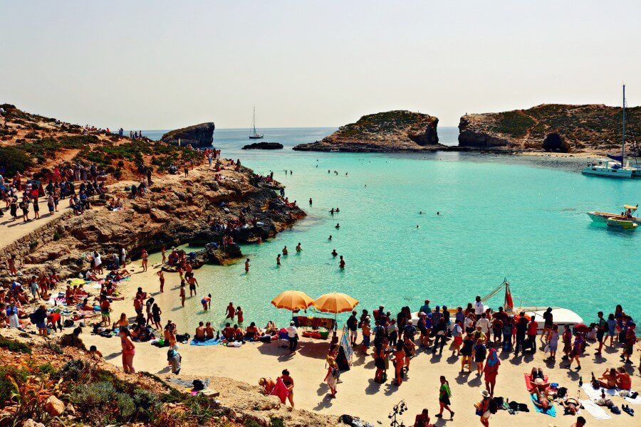 Blue Lagoon en la Isla de Comino - Imprescindibles en Malta