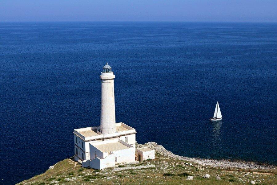 Faro de Punta Palascia, en el Cabo de Otranto