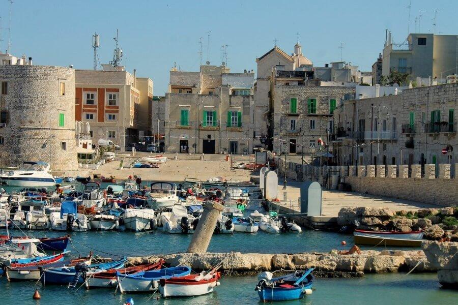 Giovinazzo, pueblo pesquero cerca de Bari