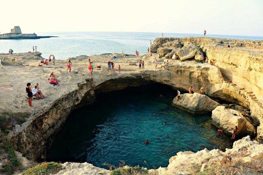 Gruta de la Poesía en Puglia