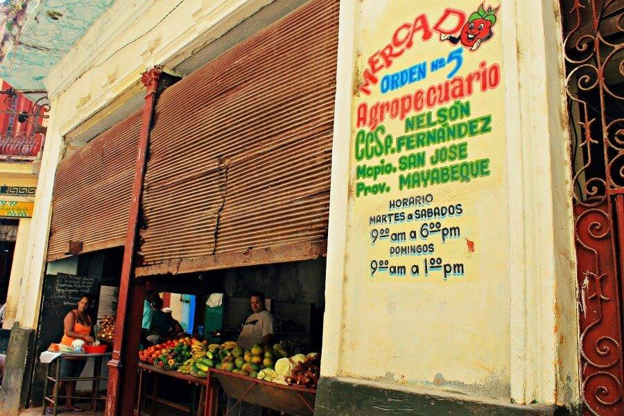 Mercado agropecuario de La Habana Vieja