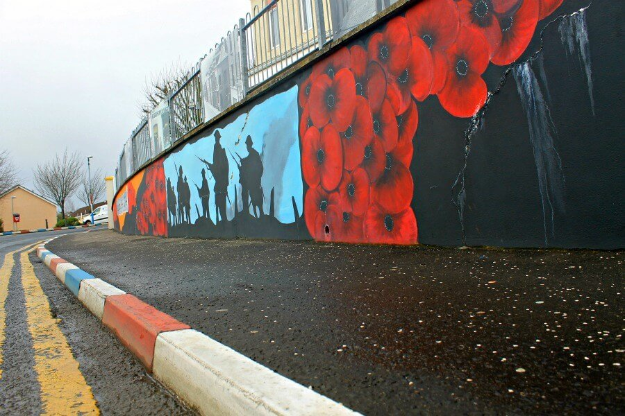 Murales de Londonderry en Irlanda del Norte