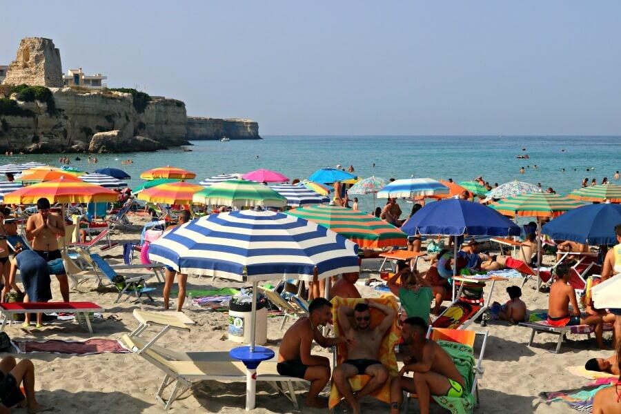 Torre dell' Orso, una playa cool en Puglia