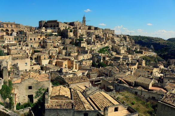 Vistas de los sassi de Matera, una de las ciudades más bonitas de Italia