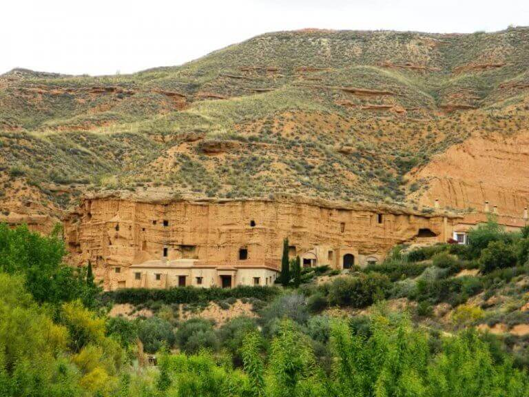 Casas cueva de Guadix, pueblos bonitos cerca de Granada