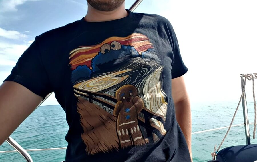 Camiseta de El Grito de Munch de Pampling (-15 con el código CLAUDIA)