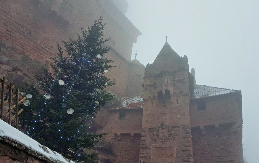 Castillo de Haut-Koeningsbourg en Navidad - Ruta por Alsacia