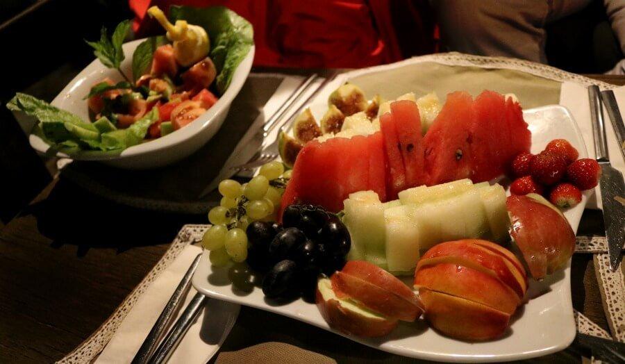 Comiendo sano en Turquía en las Sultan Cave Suites
