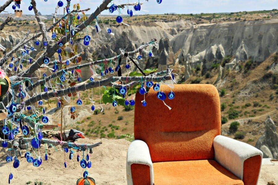 El asiento de pensar en la Capadocia Turquía