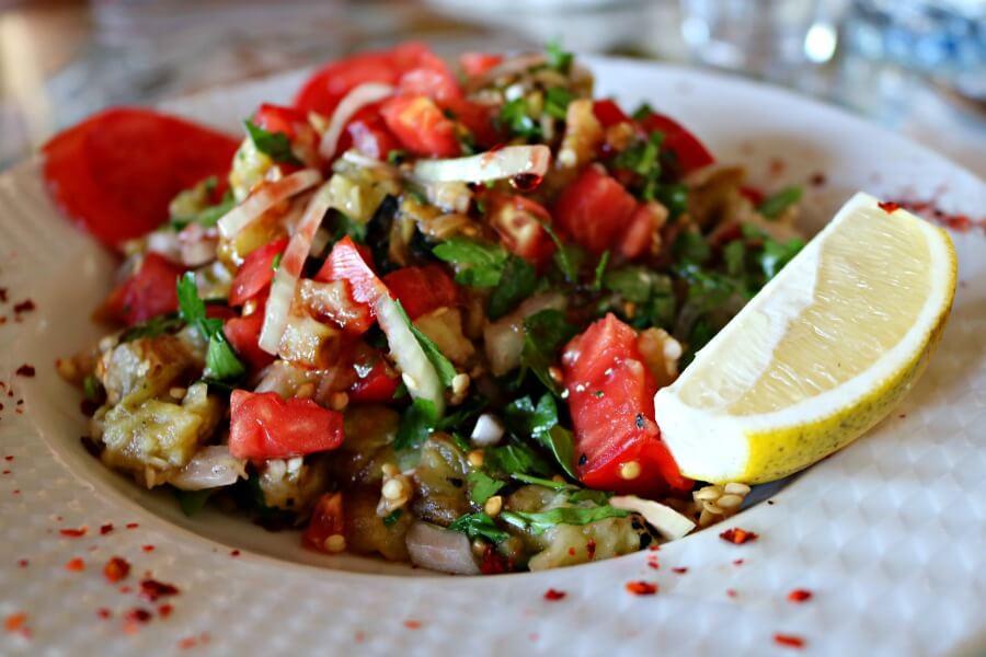 Ensalada de berenjena turca, restaurante Cappadocian Cuisine
