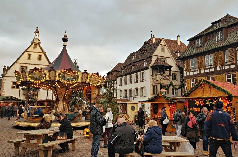 Mercado navideño de Obernai en la Alsacia