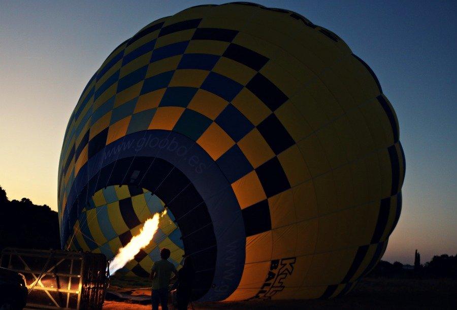 Montando en globo en Andalucía