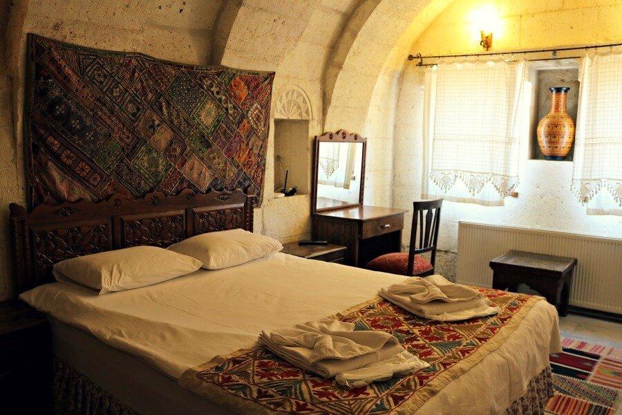 Nuestro alojamiento en Capadocia en una casa cueva