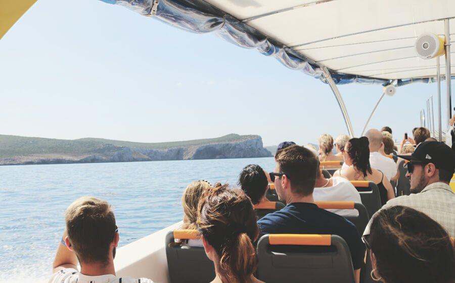 Barco de nuestra excursión a Cabrera - Mallorca