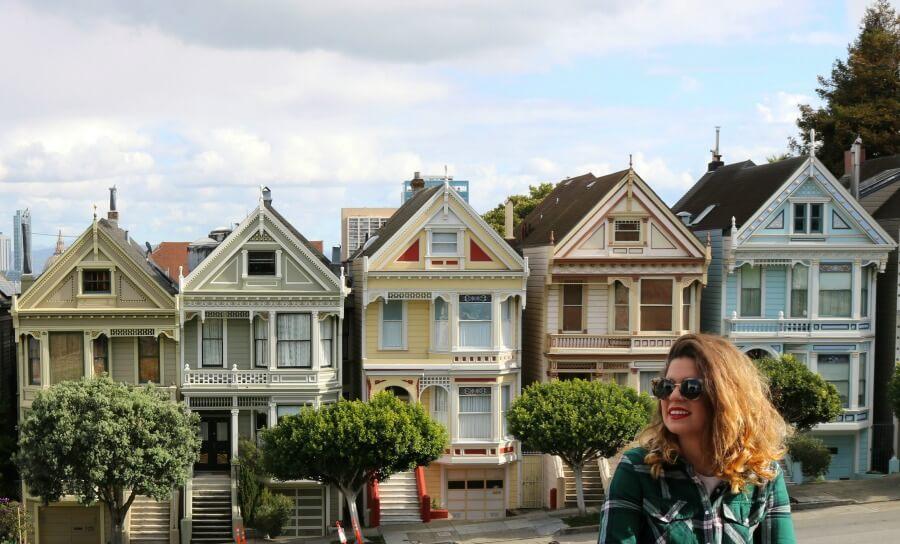 Claudia en las Painted Ladies - Guía de San Francisco