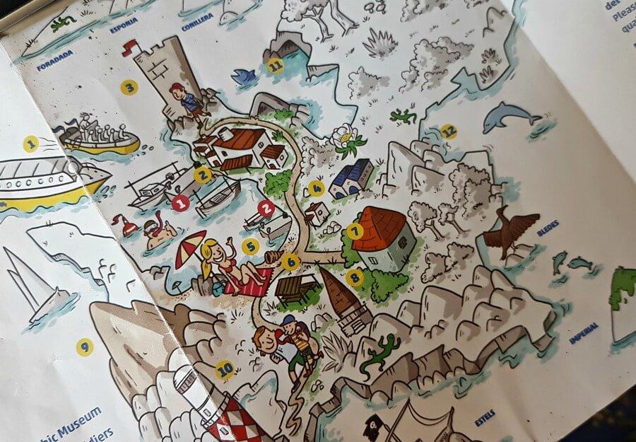 Mapa de la Isla Cabrera