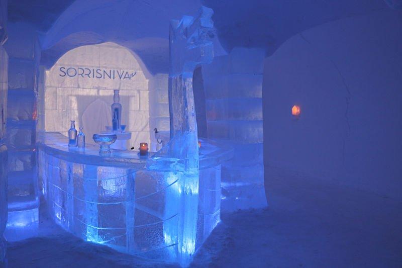 Bar de hielo en Alta Noruega