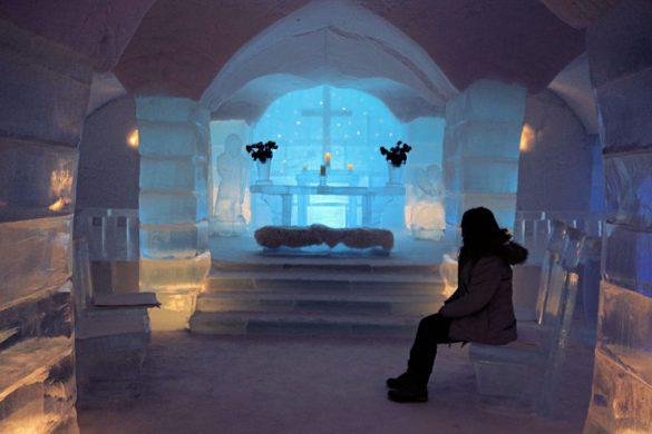 Iglesia de hielo en el Sorrisniva Hotel de Alta