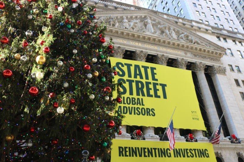 Bolsa de Nueva York en Navidad