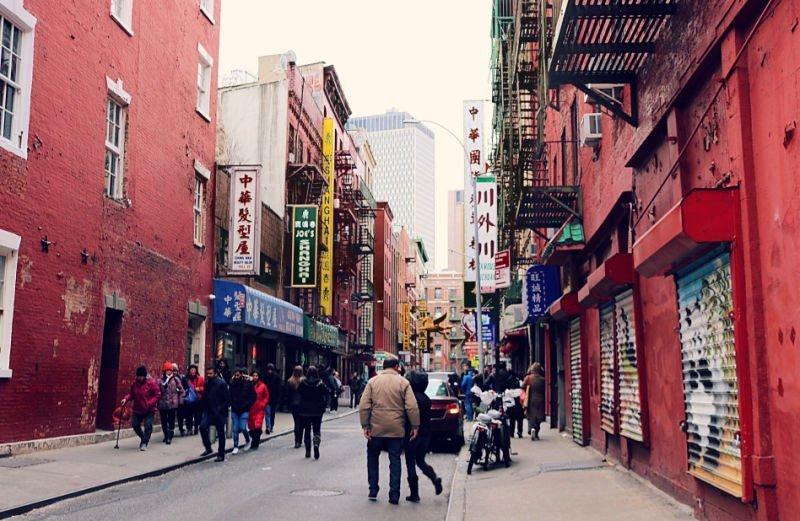 Carteles en chino en Nueva York