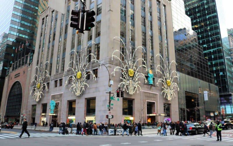 Escaparates de Tiffany's en Navidad