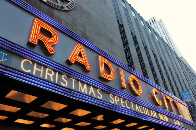 Espectáculo de las Rockettes en Nueva York en Navidad