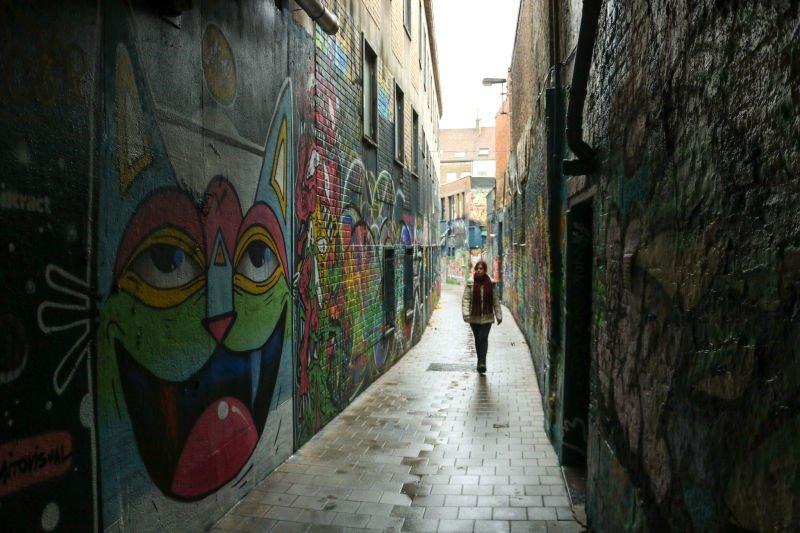 Calle de los graffitis, street art belga