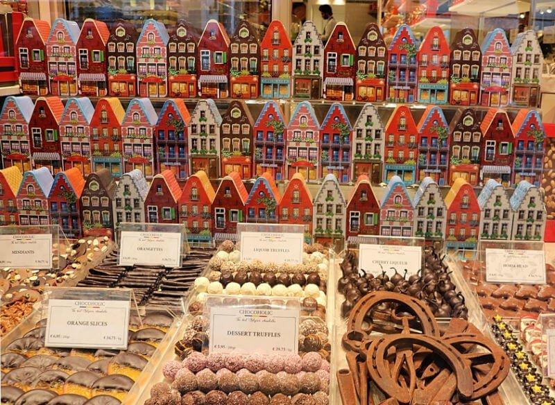 Comprar chocolate belga en Brujas