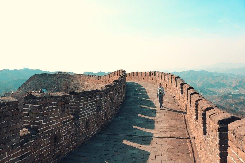 Gran Muralla China sin nadie y con un buen seguro