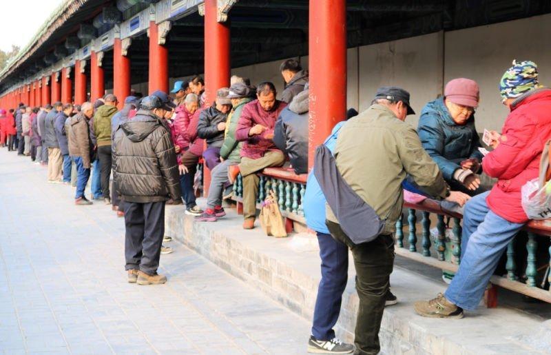 Jugando a las cartas en el Parque del Templo del Cielo - Viaje a China por libre