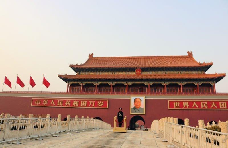 Qué ver en Pekín - Cuadro Mao Tse Tung en Tiananmen