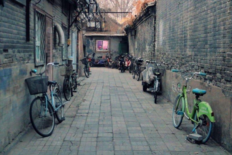 Un hutong en Pekín
