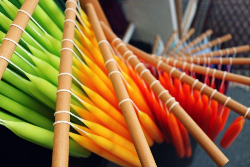 Velas de colores en Noruega