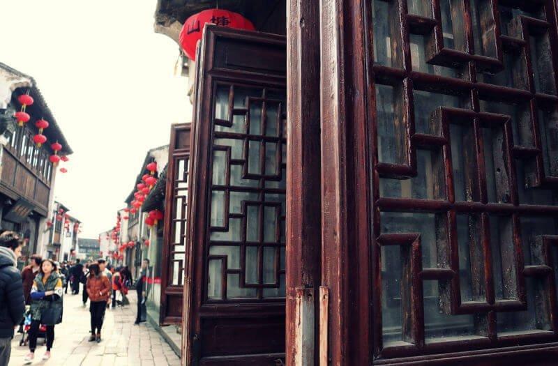 Calle de las tiendas de la Venecia china