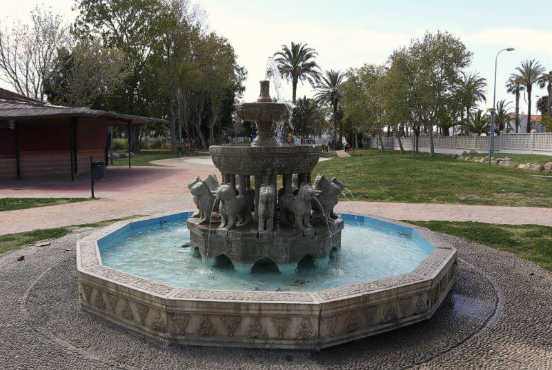 Fuente de los leones en Salobreña