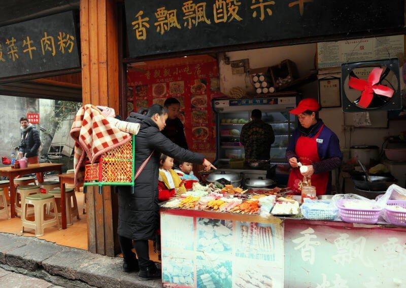 Puestos callejeros en China