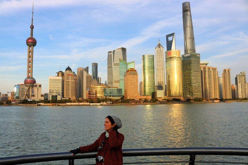El skyline de Shanghái con Pudong es único