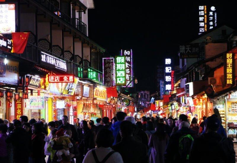 West Street, la calle más animada de Yangshuo