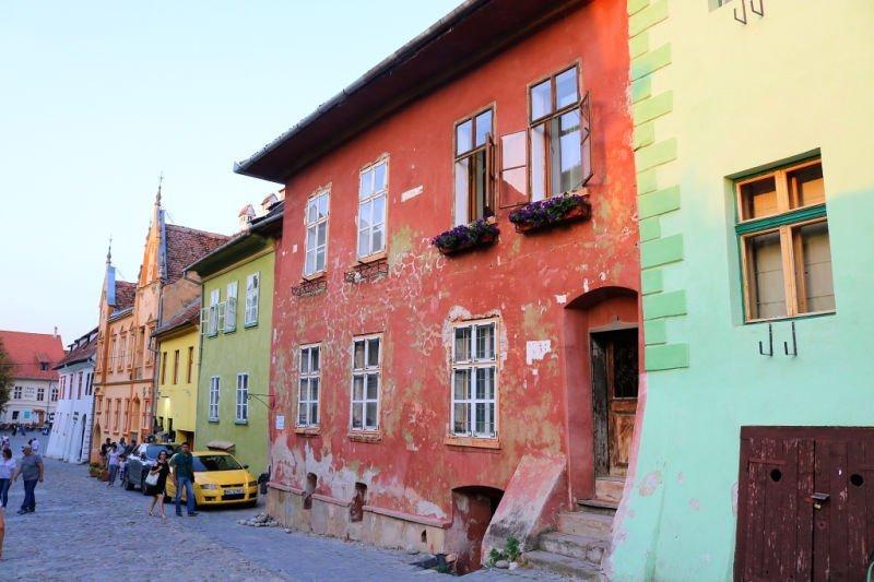 Casas de colores en Sighisoara