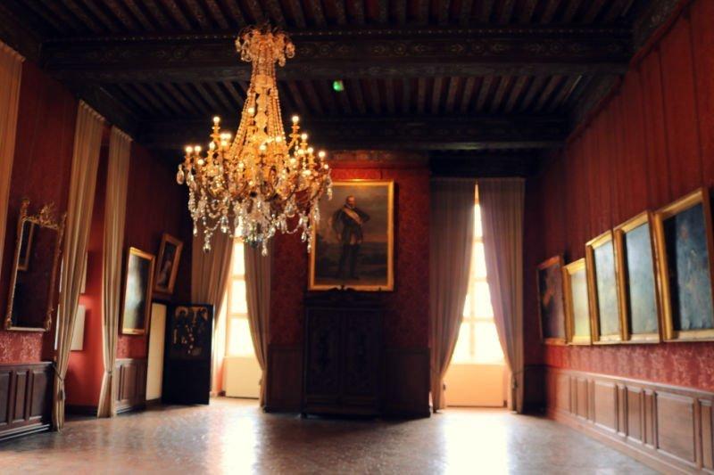 Habitación de los retratos en Brissac