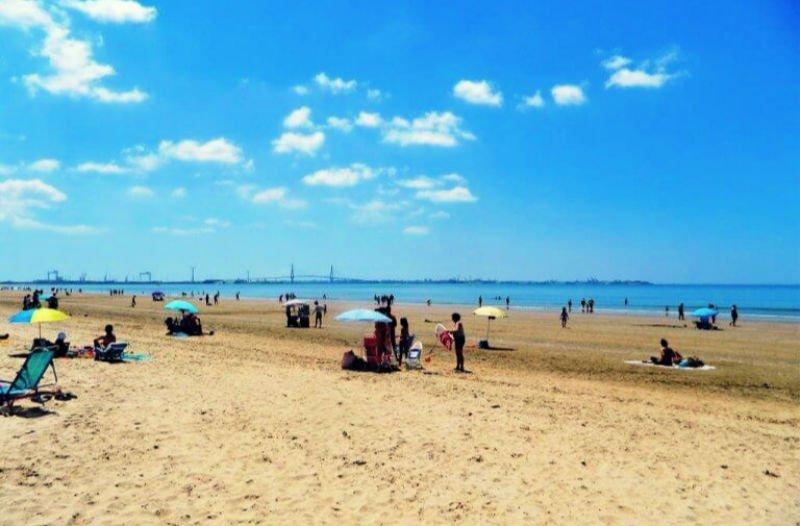 Playa de Valdelagrana en El Puerto - Mejores playas de Cádiz