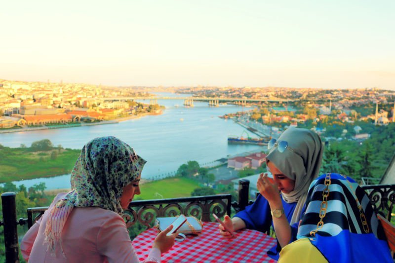 Atardecer con té desde el Café Pierre Loti - Qué ver en Estambul