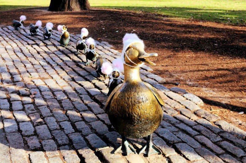 Escultura de los patos - Cosas que ver en Boston