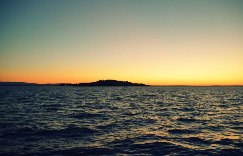 La isla en el Lago Trasimeno de Italia
