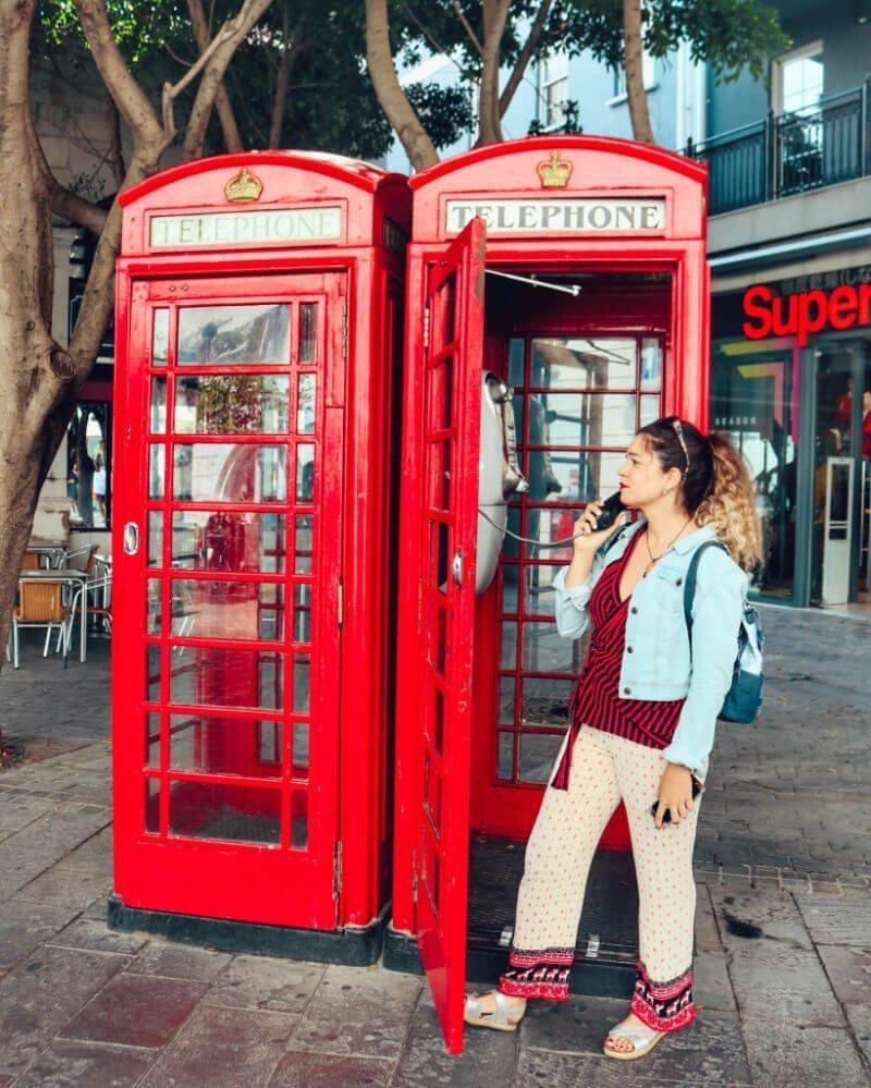 Las cabinas de teléfono de Main Street en Gibraltar