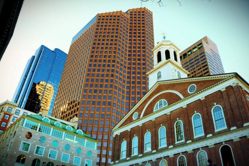Old State House entre rascacielos