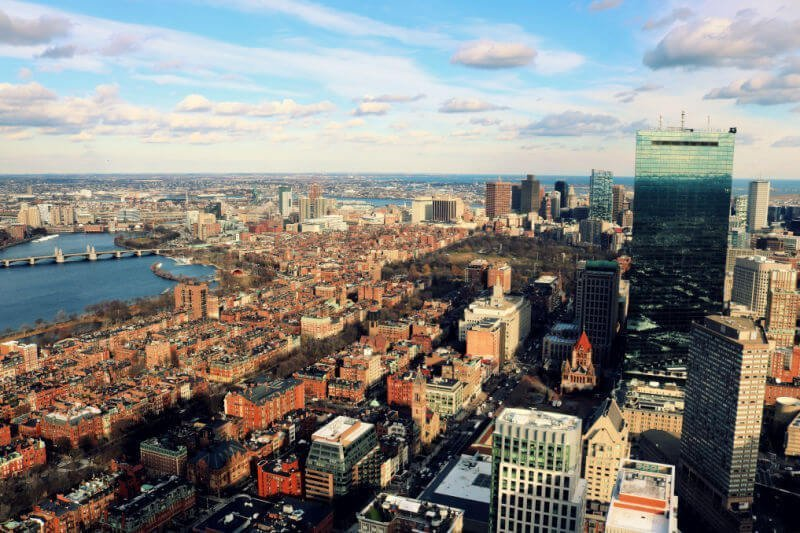 Vistas de Boston desde la Prudential Tower