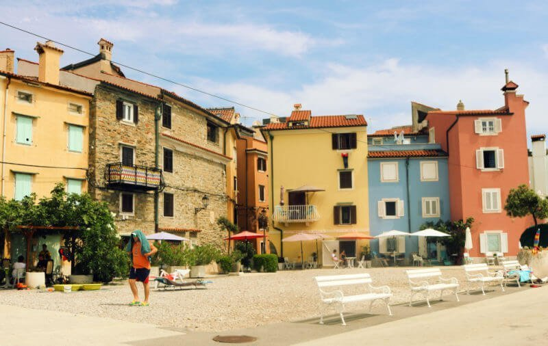 Casas de colores en Pirano Eslovenia