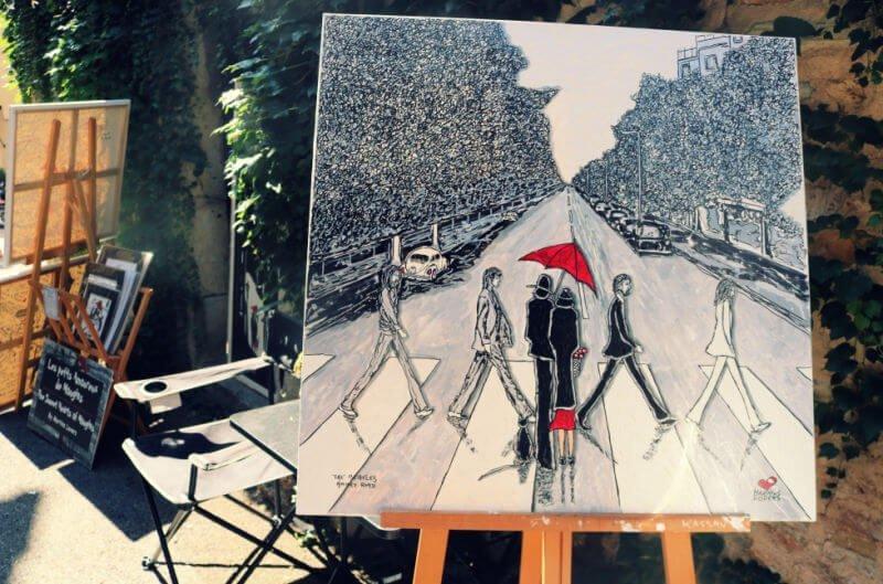Obras de arte en el pueblo francés de Mougins